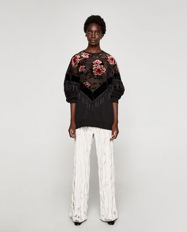 floral sweatshirt - fall fashion trends on JK Style