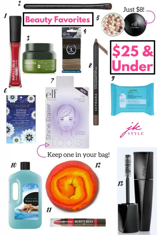 25 Favorite beauty products under 25 - JK Style