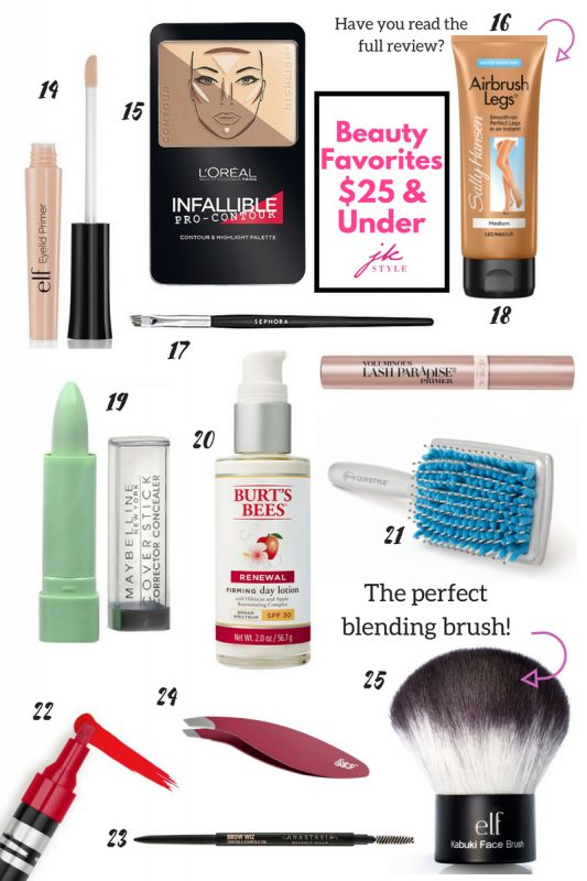 25 favorite beauty products under $25- JK Style