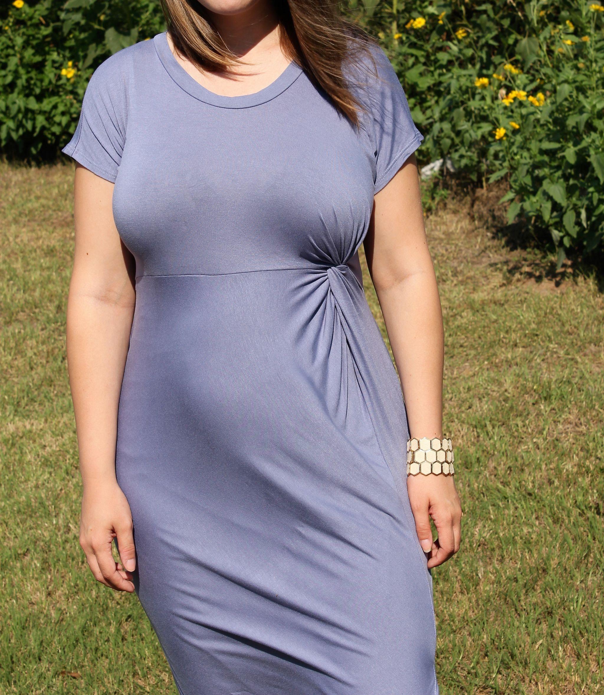 PinkBlush Periwinkle Maternity Dress - JK Style