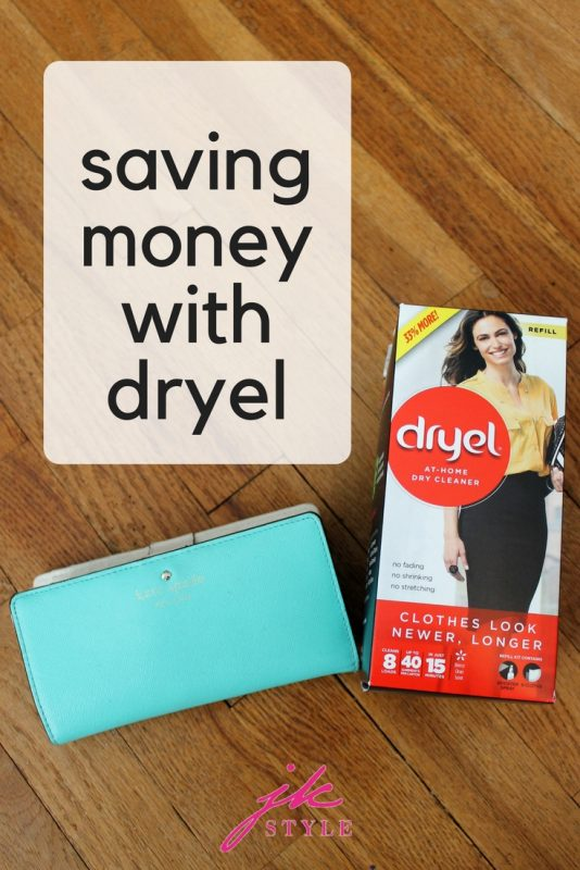 saving money on dry cleaning with dryel
