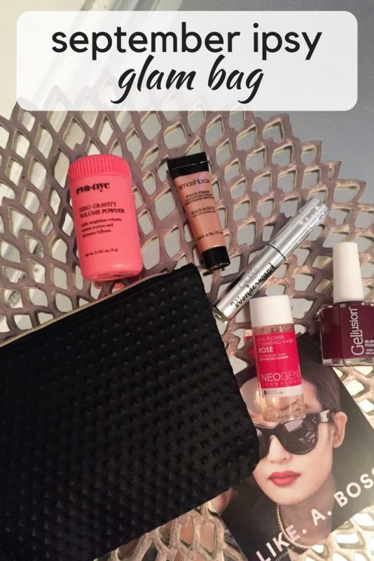 A review of the September Ipsy Glam Bag on JK Style
