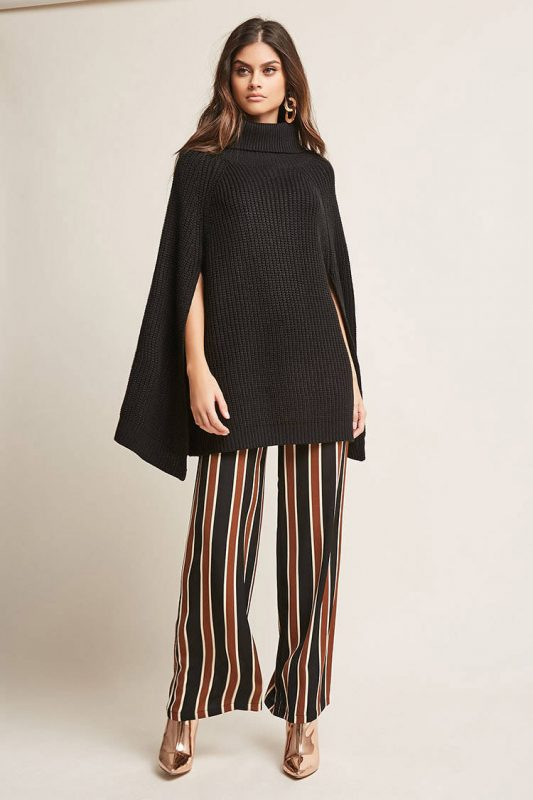 ribbed knit cape sweater - shopping Forever 21 when you're not 21