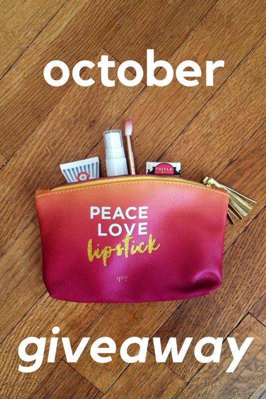 October Giveaway on JK Style