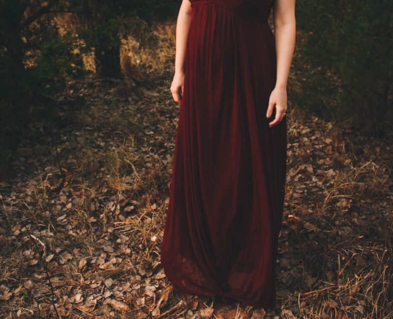 PinkBlush burgundy maternity evening gown - JK Style 5