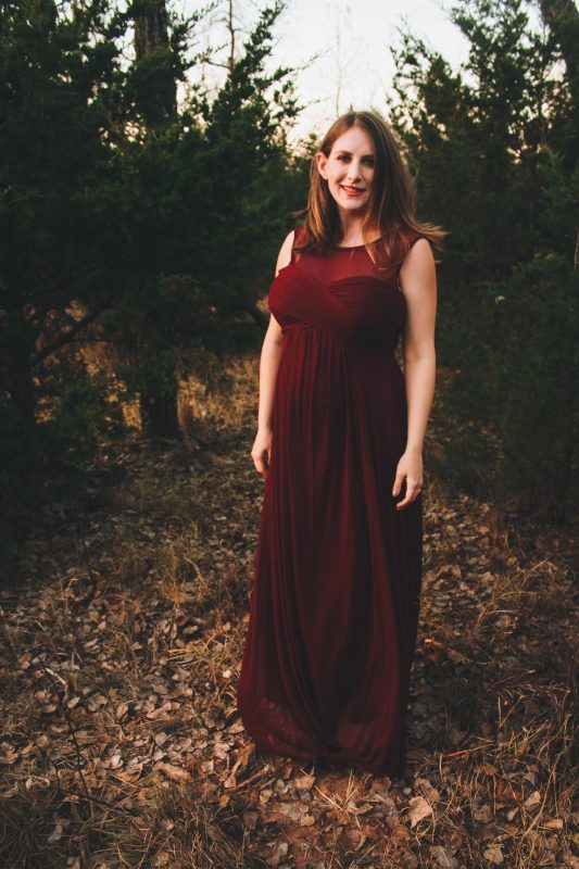 PinkBlush burgundy maternity evening gown - JK Style 4