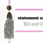statements earrings $10 and under on JK Style