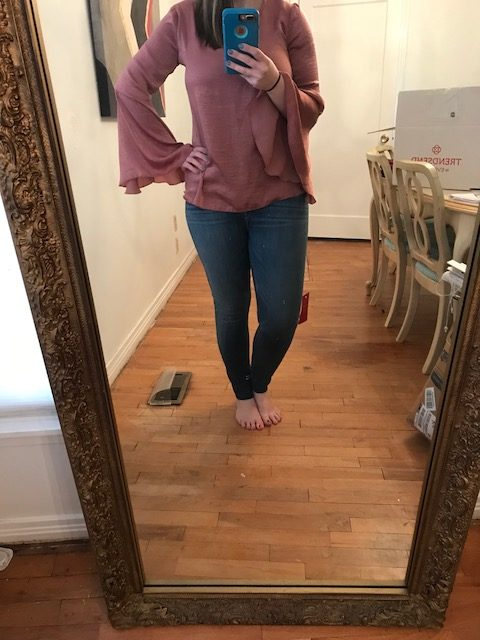 Hudson Barbara ankle jeans, Allison Joy Kelli Satin top - - Evereve Trendsend - JK Style