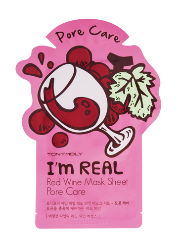 Friday Favorites - Tony Moly I'm Real Mask Sheet Red Wine - JK Style