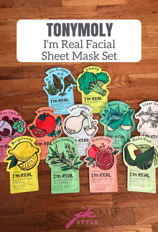 TONYMOLY I'm Real Facial Sheet Mask review on JK Style