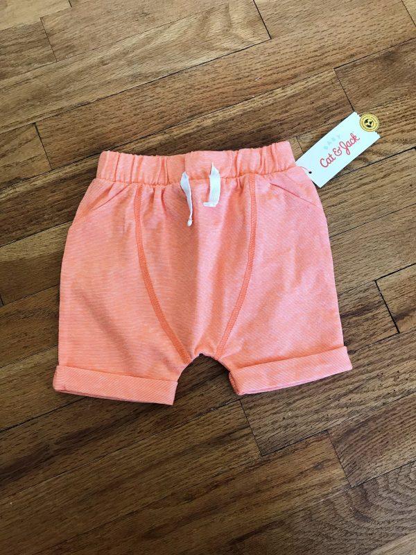Orange shorts Baby Cat & Jack Box review - Target - JK Style