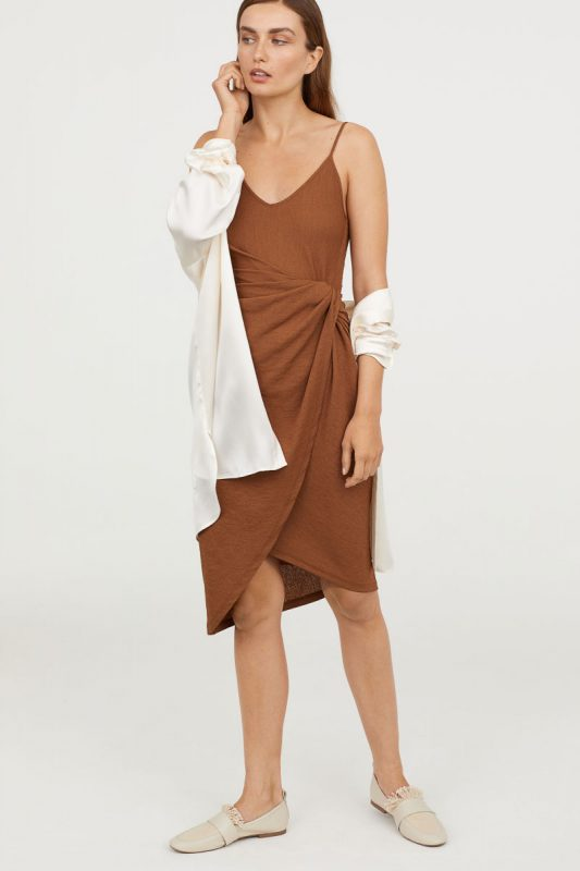 Draped Wrap Front Dress - Under $40 H&M Finds
