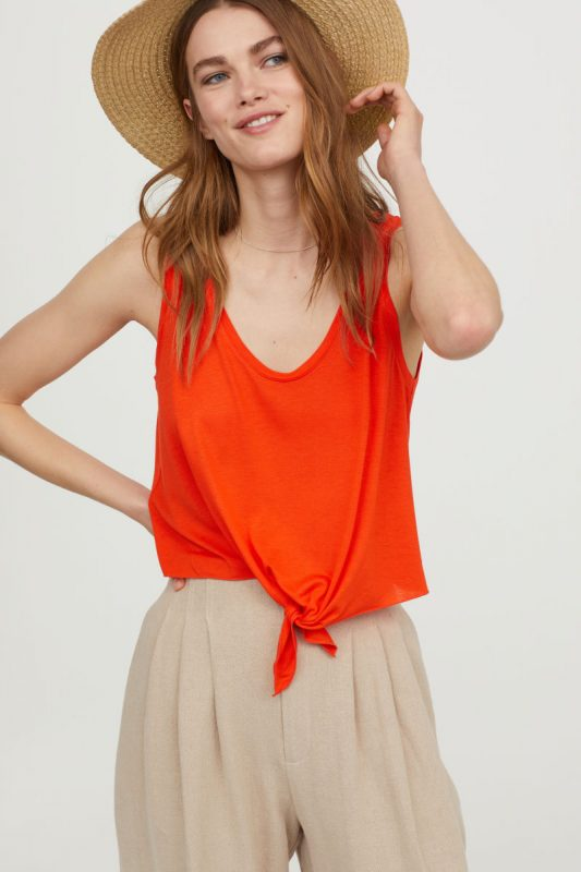 H&M Sleeveless Tie Top - Under $40 H&M Finds