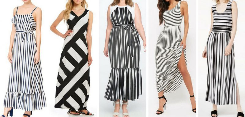 White and Black Maxi Dresses - Friday Favorites - JK Style
