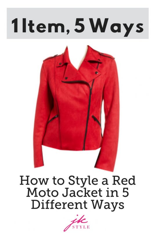 how to style a red moto jacket on JK Style