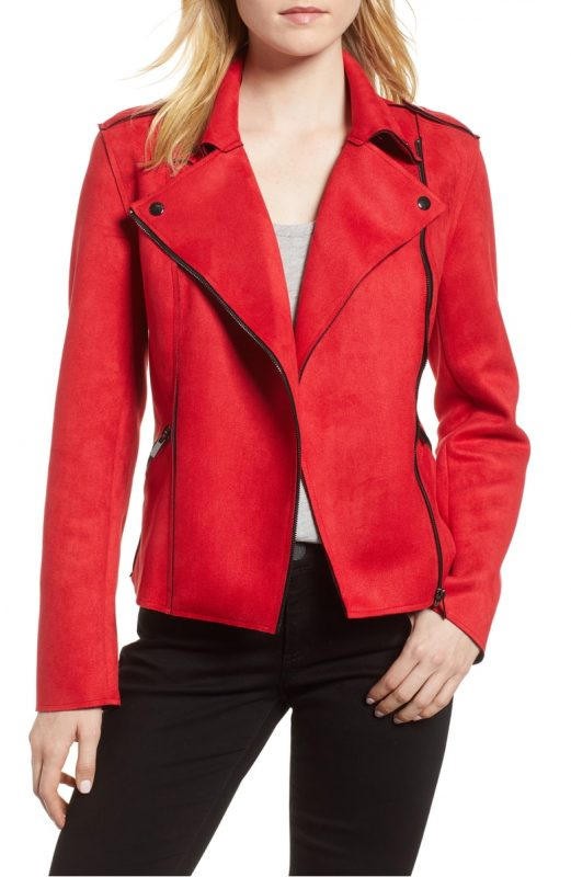 Friday favorites - Nordstrom sale Kut from the Kloth Haddie Faux Suede Jacket - JK Style