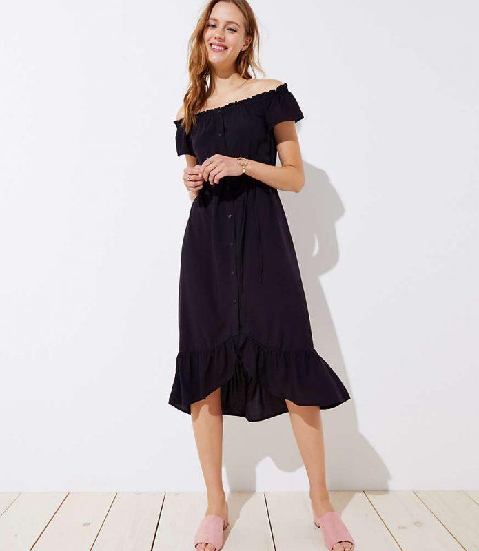 Loft Off-the-shoulder midi dress - friday Favorites - JK Style