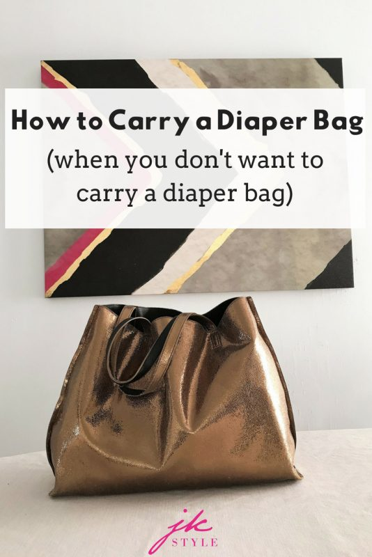 stylish diaper bag alternative - how to carry a diaper bag when you don't want to -jk style