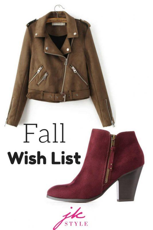 fall wish list - JK Style