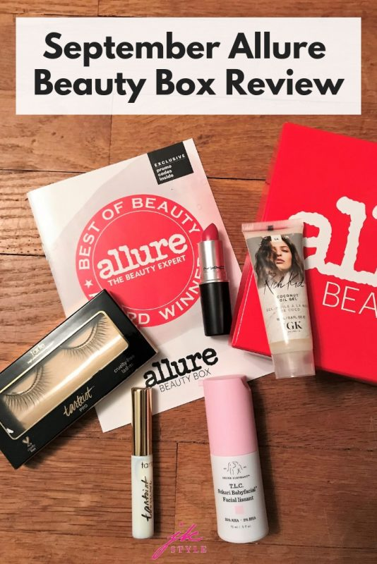 September Allure Beauty Box Review on JK Style