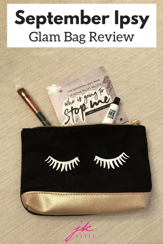September Ipsy Glam Bag review - JK Style