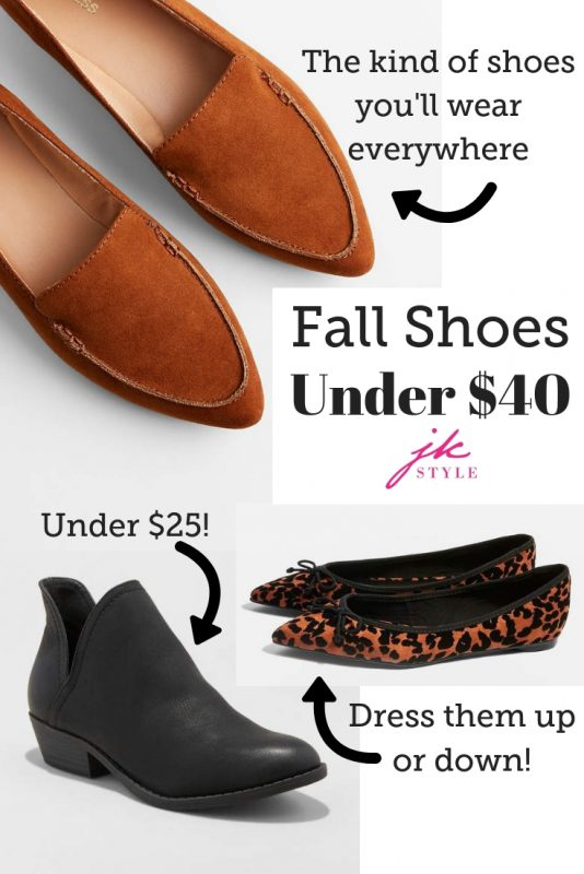 fall shoes under $40 on JK Style