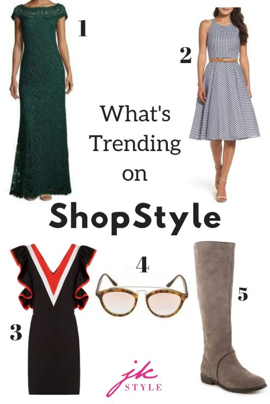 the top five items trending on ShopStyle in September - JK Style