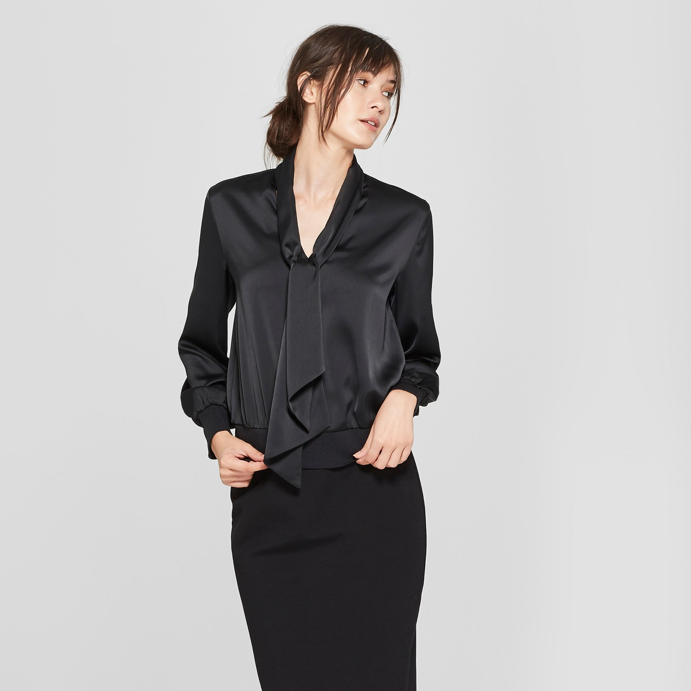silk blouse from Target's Prologue line - JK Style