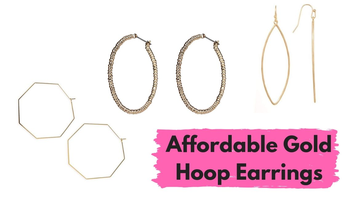affordable gold hoop earrings