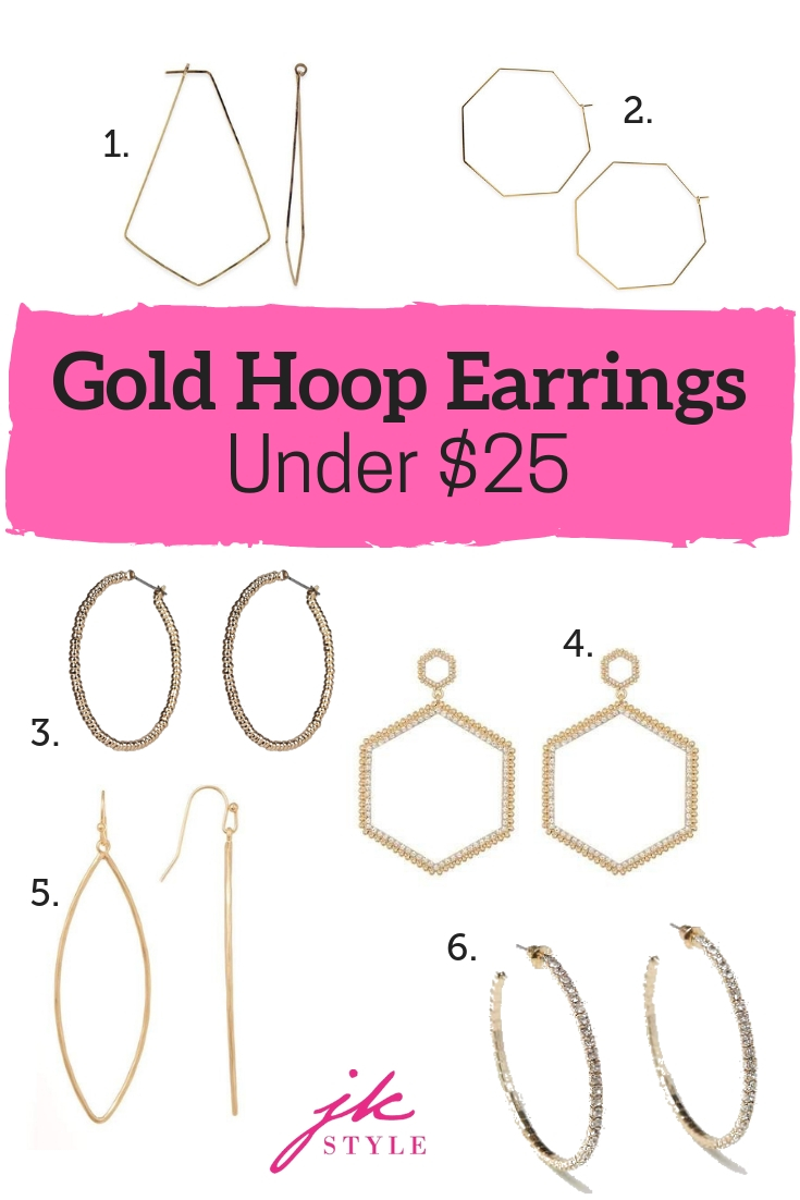 affordable gold hoop earrings