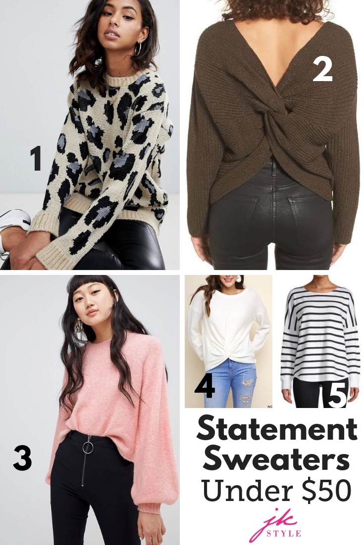 statement sweaters under $50 - JK Style