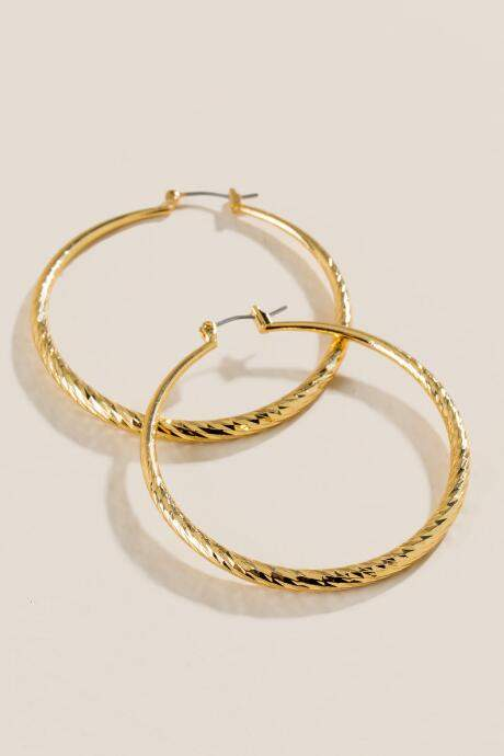 friday favories gold hoop earrings - JK Style