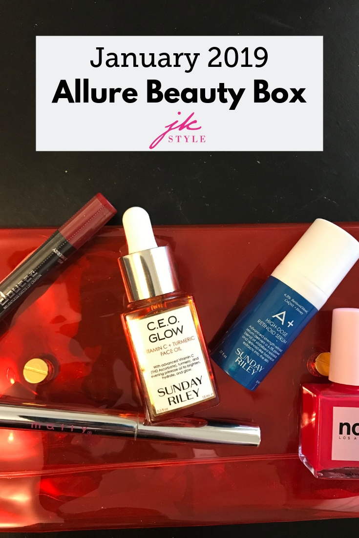 January Allure Beauty Box 2019 review - JK Style