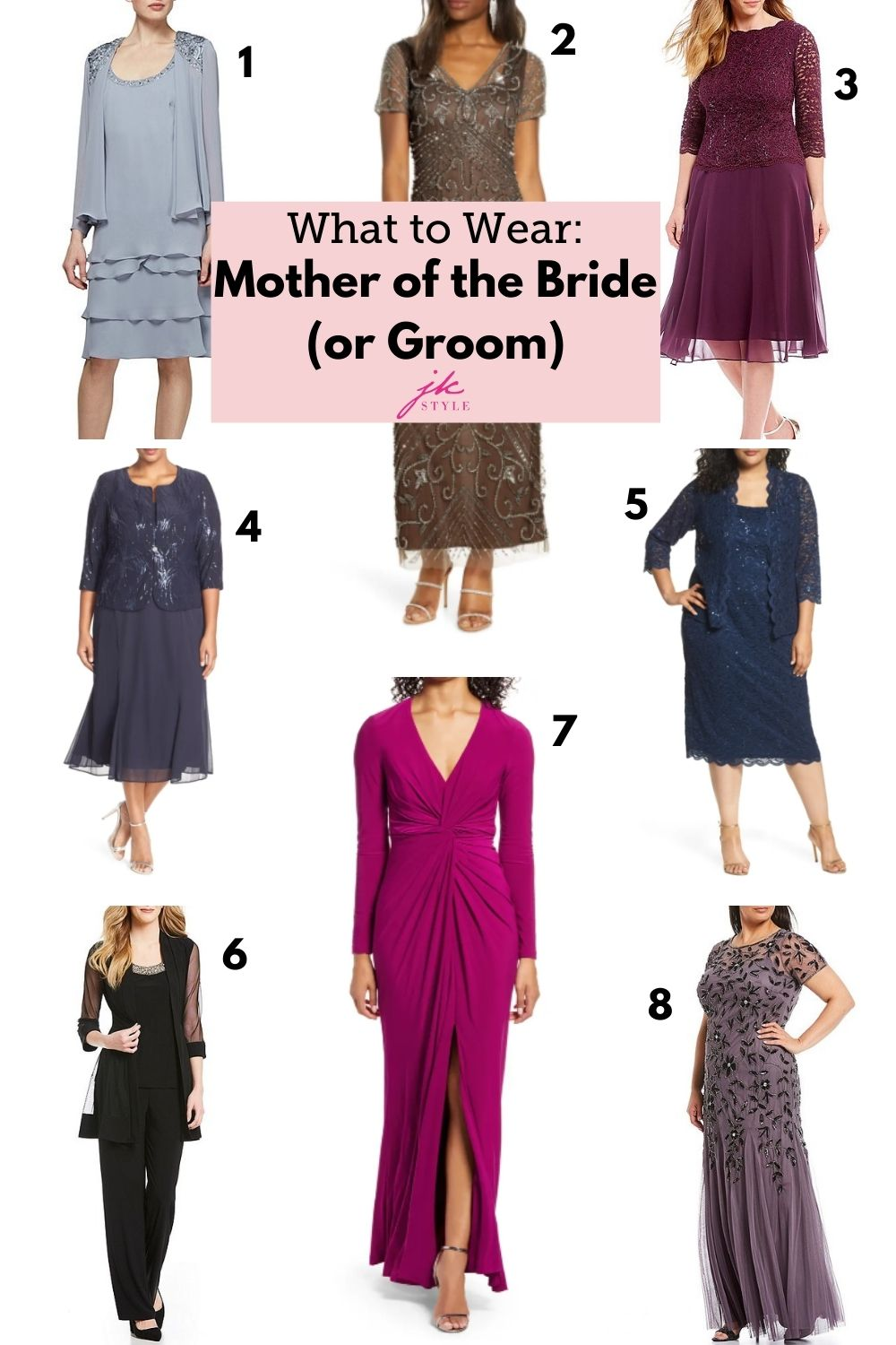 what does the mother of the groom wear