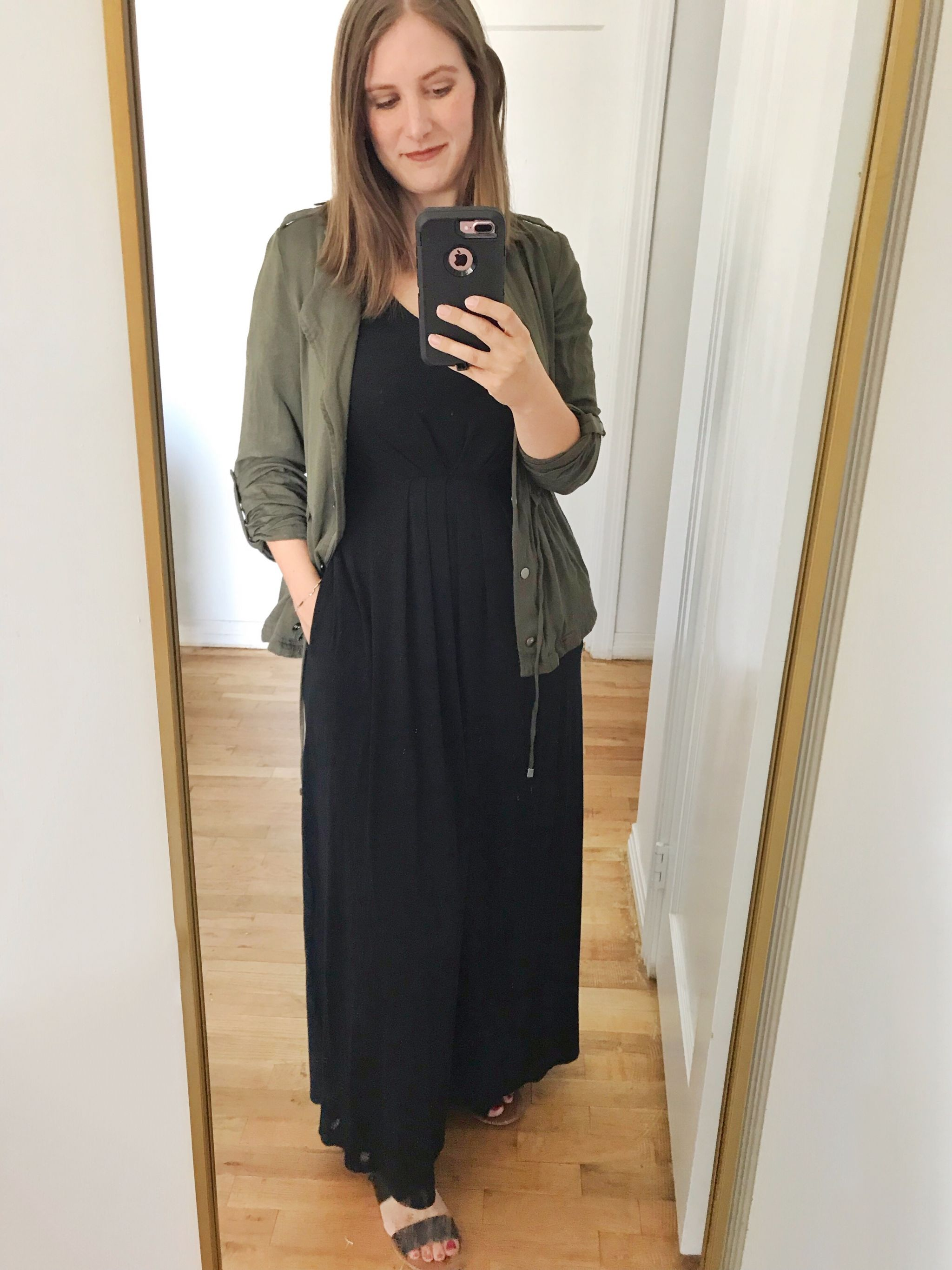 how to style a black maxi dress - JK Style