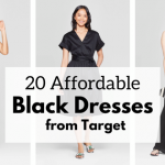 affordable black dresses from Target - JK Style