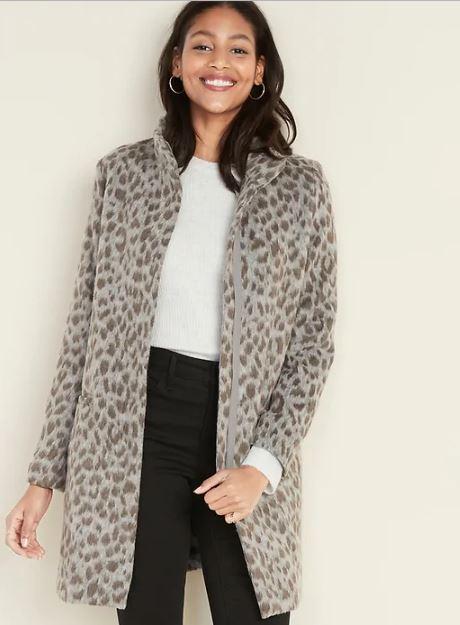 Old Navy on $100 - leopard coat - JK Style