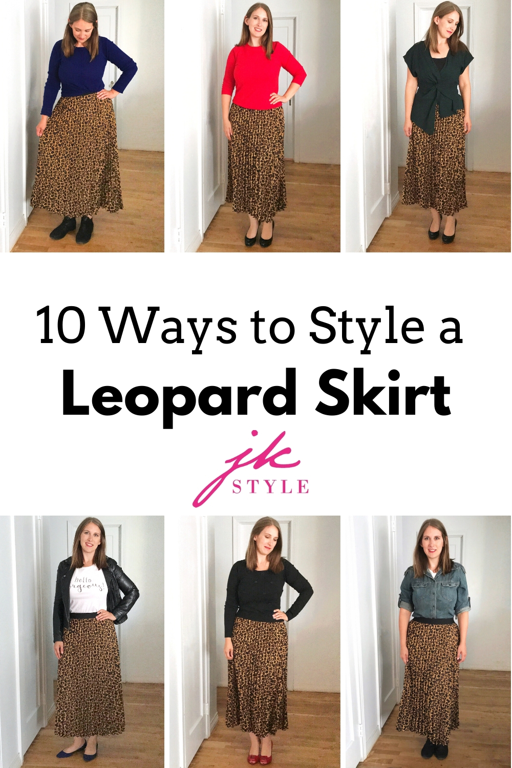 how to style a leopard skirt - JK Style