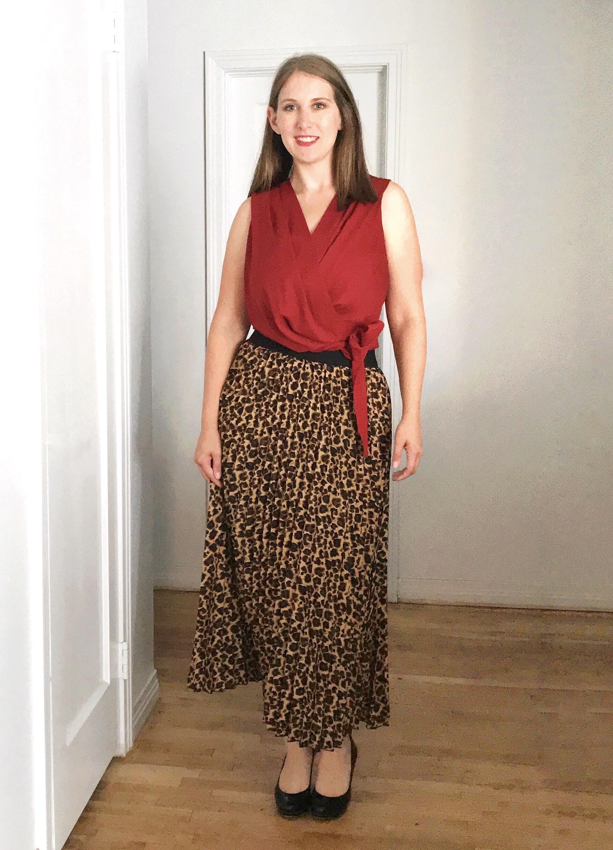 leopard skirt styling - JK Style