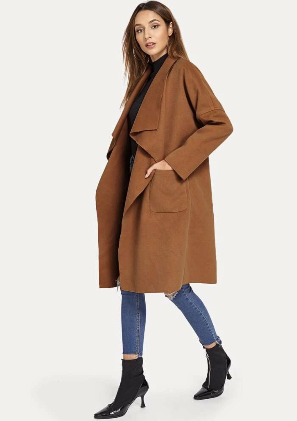 Shein Waterfall Coat
