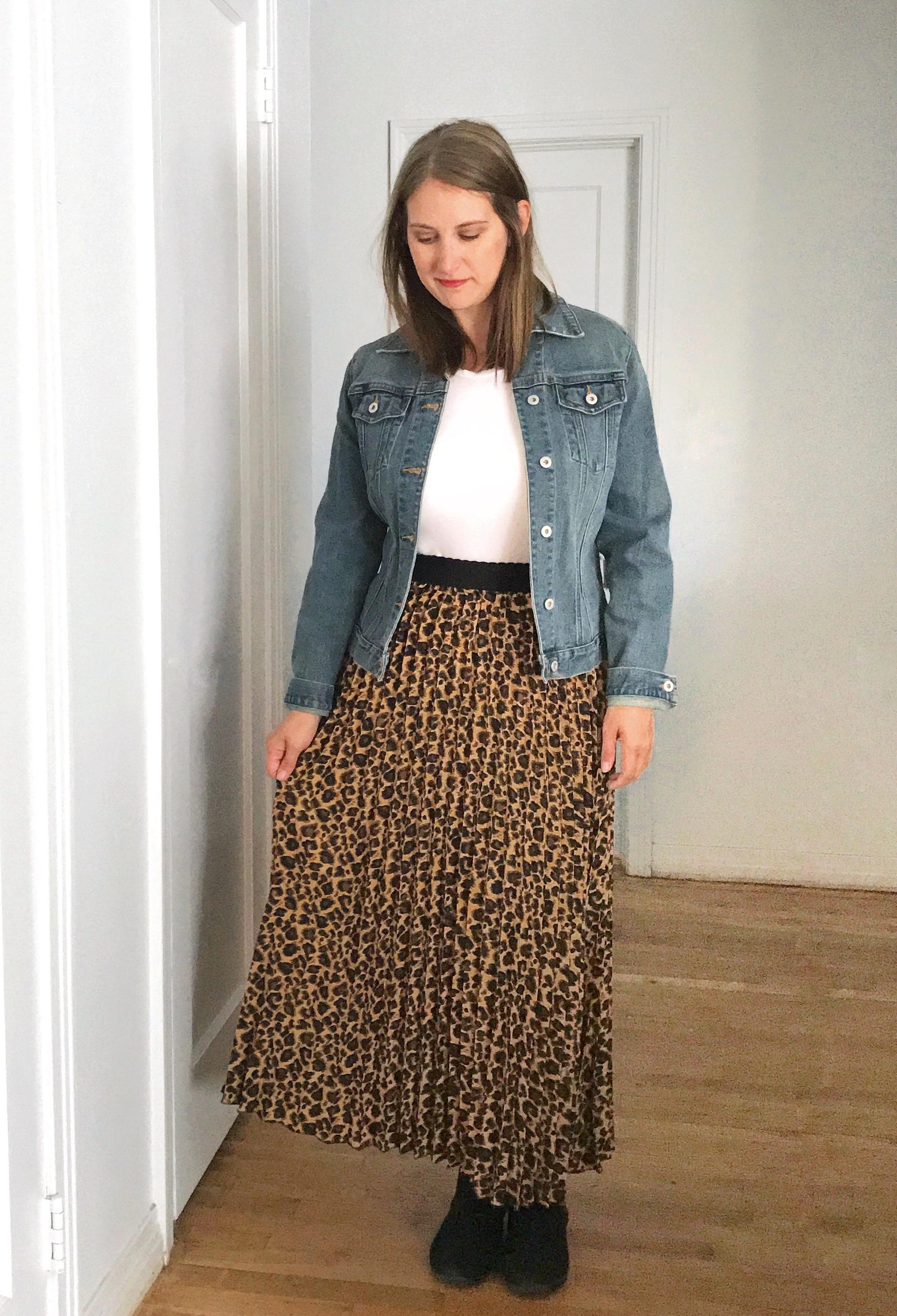 leopard skirt styling ideas - JK Style