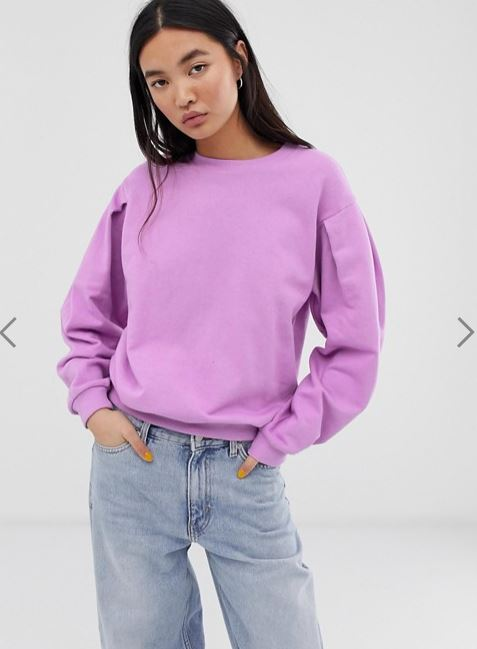 Neon Lilac-Purple Over-sized Sweatshirt