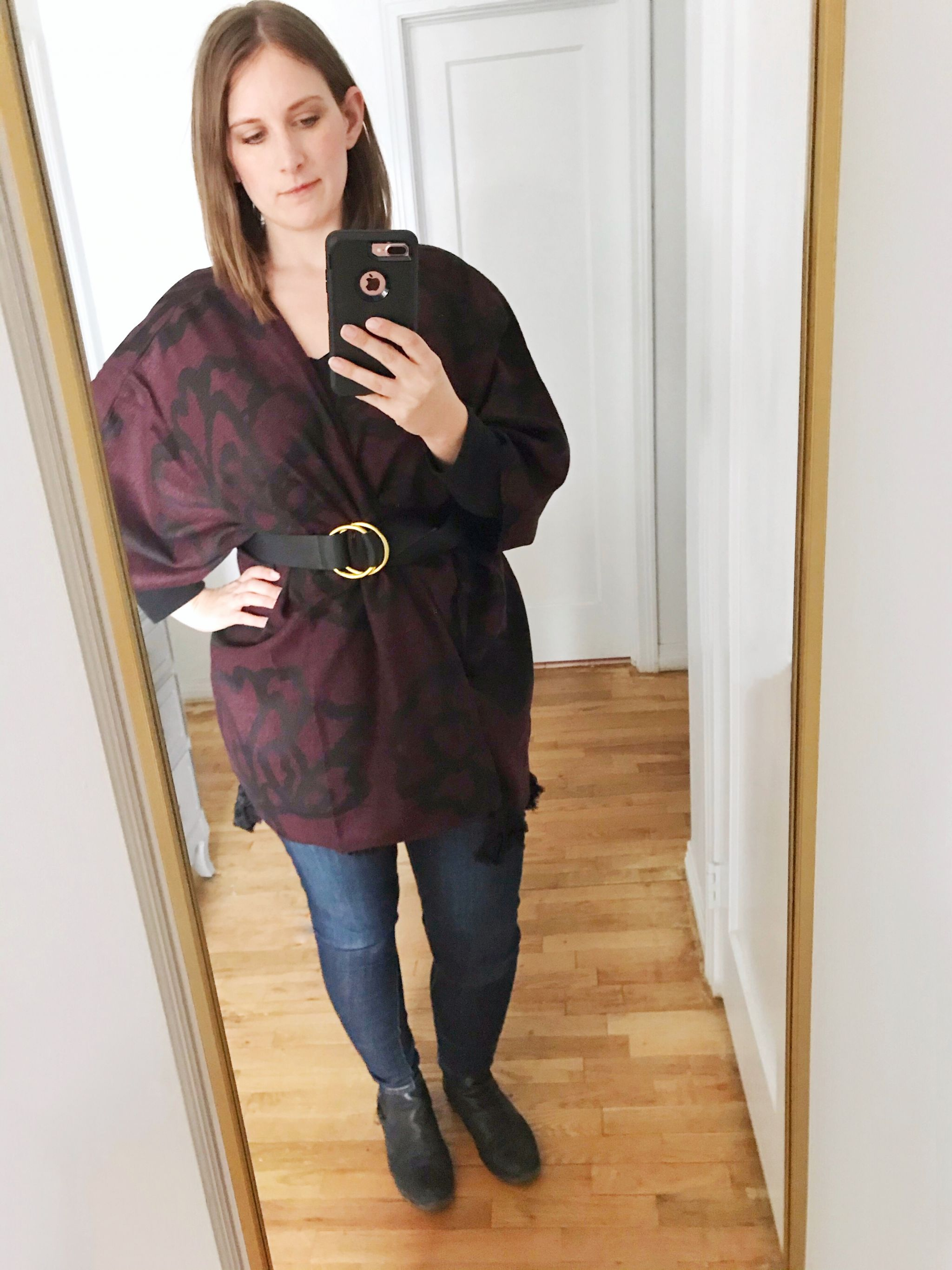 winter Rachel Zoe Box of Style cardigan and belt