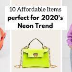 neon trend 2020