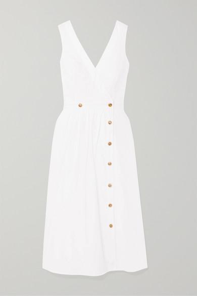 J.Crew Rosina Cotton-poplin Wrap Dress - White