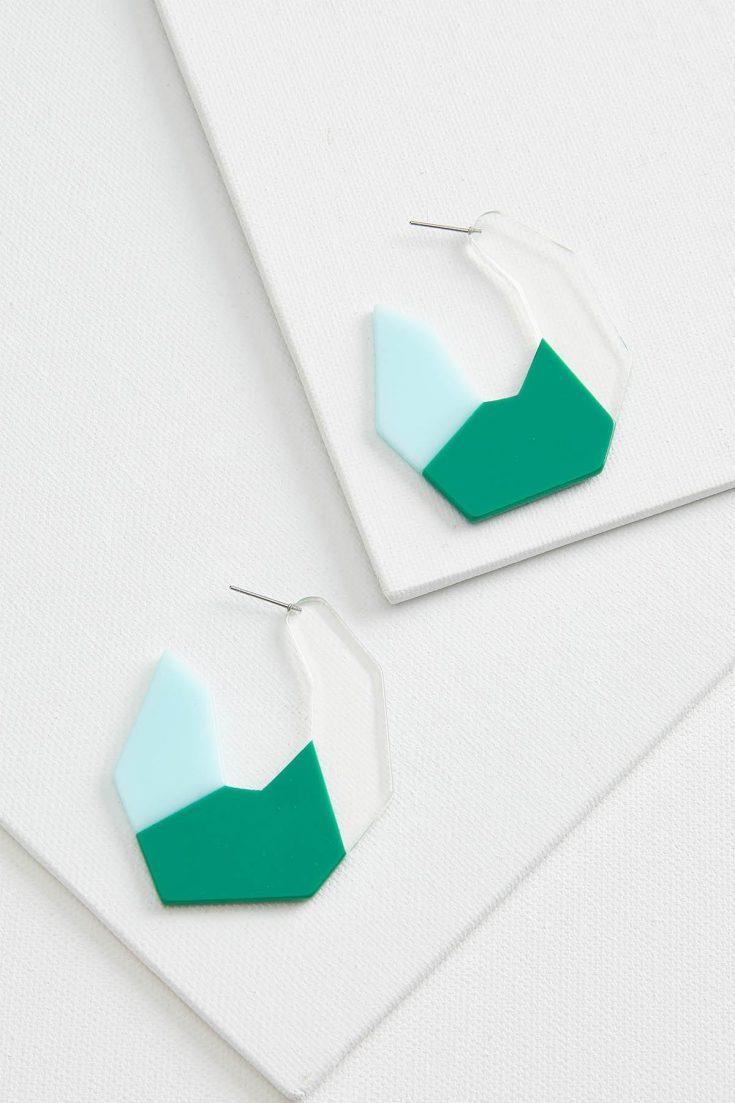 Colorblock Lucite Earrings