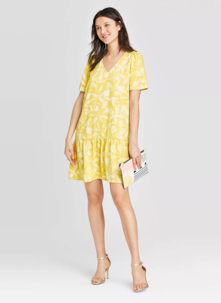 A New Day Short Sleeve Ruffle Hem Dress