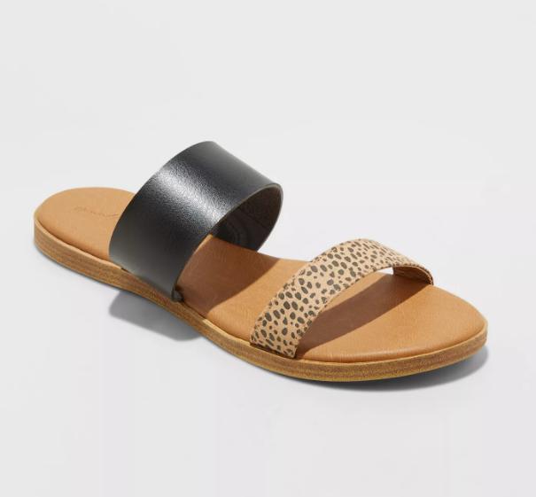 Universal Thread Torri Two Band Slide Sandals