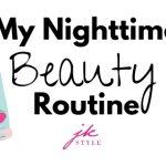 my night skin care routine