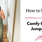 how to style a green jumpsuit